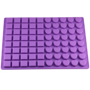 Mujiang 80-Cavity Silicone Moulds for Making Homemade Chocolate Candy Gummy Jelly