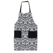 Inkach Adjustable Bib Aprons with Pockets Women Baking Cooking Kitchen Aprons
