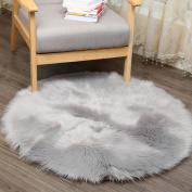 Soft Artificial Sheepskin Rug Chair Cover Artificial Wool Warm Hairy Carpet Grey 30 × 30CM