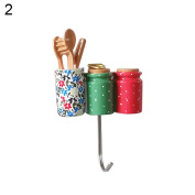 17YEARS Cake Toothbrush Cup Pan Basket Shape Hook Wall Hangers Rack Organiser