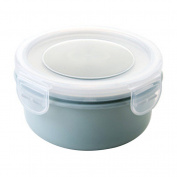 Rectangle Round Food Preservation Box Sealed Refrigerators Container Storage Box - Blue Round* Amesii