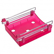Refrigerator Multi-Partition Space Efficient Fresh Layer Mini Storage Rack - Red Amesii