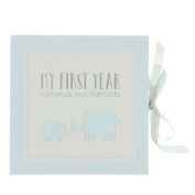 Baby Record Book Keepsake Gift Blue