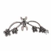 Minshao Punk Metal Flower Ear Cuff Wrap Clip Earring