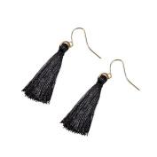 Minshao Bohemian Earrings Women Long Tassel Fringe Dangle Earrings