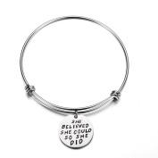 Minshao Women Chic Bracelet Inspirational Charm Bracelets Chain Jewellery Gifts