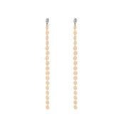 Minshao Crystal Ear Clip Fashion Jewellery Tassel Ear Stud Earrings
