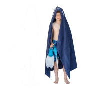 Hooded Owls Jumbo hooded towel for children, 7-13yrs, navy with a Navigator trim