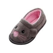 huichang Kid Baby Girls Boys Soft Household Cartoon Design Toddler Flock Warming Shoes