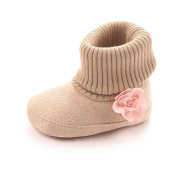 Saingace Casual Fashion Infant Newborn Baby Girls Boys Flower Crib Boots Soft Sole Prewalker Warm Shoes For 3 4 5 6 7 8 9 10 11 12 Month