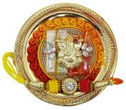 Free Size Indian Brother Hand Band Handmade Ganesh Thali Set Rakshabandhan Thread