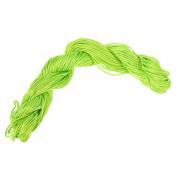 Visork Nylon Thread Chinese Knot Cord 1MM Bracelet Thread String Rope Beading Macrame Rattail 25M Bracelet Braided String Light Green