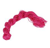 Visork Nylon Thread Chinese Knot Cord 1MM Bracelet Thread String Rope Beading Macrame Rattail 25M Bracelet Braided String Rose Red