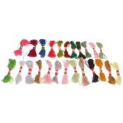 MagiDeal 24x Mixed Colours Cross Stitch Embroidery Thread Sewing Skeins Kit