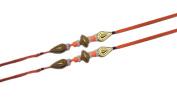 Set of two rudraksha, red beads, four stone, red colour thread rakhi, Raksha bandhan, Rakhi for Brother