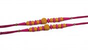 Set of two Rudraksha beads thread coloured beads rakhi Rakshabandhan Rakhi for brother