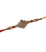 Special Raksha Bandhan Rakhi Threads, Multi Stone & Moti and Big 9 Stone marrone Colour Rakhi Thread.