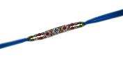 Rakhi for Raksha bandhan Rakhee Bracelet , Multi Colour Beads and 18 Stone With 3 Big Ston Blue colour Rakhi Thread