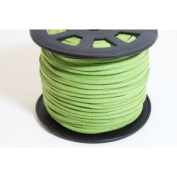Green Faux Suede Cord – 3 mm per metre