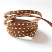 Faux Suede Studded Gold Matte Maronn Coconut 4.5 mm, 4.5x2 Suede Cord by The Metre, Black)