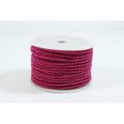 Leather cord 3 mm Fuchsia Pink – per metre