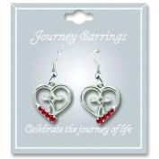 Cathedral Art JE107 July Ruby Birthstone Earrings