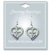 Cathedral Art JE106 June Light Amethyst Birthstone Earrings