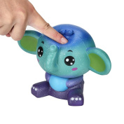 Squishy Toys Slow Rising Toys, Sonnena Cute Galaxy Elephant Slow Rising Jumbo Squishy Toys Stress Relief Toys Gifts for Kids Adults Birthday Party Favours Squeeze Decompression Toys Easter Day Gift