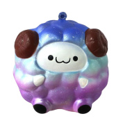 Squishy Toys Slow Rising Toys, Sonnena Starry Sky Colour Squee Soft Sheep Slow Rising Jumbo Squishy Toys Stress Relief Toys Gifts for Kids Adults Birthday Party Favours Squeeze Decompression Toys Easter Day Gift