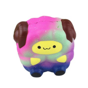 Squishy Toys Slow Rising Toys, Sonnena Starry Sky Colour Sheep Slow Rising Jumbo Squishy Toys Stress Relief Toys Gifts for Kids Adults Birthday Party Favours Squeeze Decompression Toys Easter Day Gift