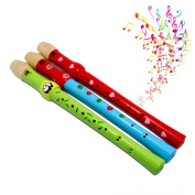 Needra Wooden Flute Hooter Bugle Educational Toy Gift For Kids Early Education