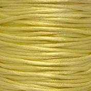 Rattail 2mm Rattail Satin Cord - Lemon - 5m
