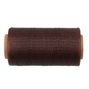 CNBTR 200 Metres 1mm 150D Flat Waxed Leather Thread Cord Sewing Craft Coffee Colour