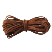 Homgaty 8.8M Roll Durable Brown Suede Leather Cord String 2mm for Bracelet Necklace DIY