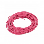 5 m Waxed Cotton Cord 1 mm Pink-(Crafts-Jewellery Making