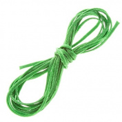 Leaf Green Waxed Polyester Flat Macramé Cord Thread 1mm