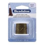 Beadalon Cotton Tassel Cord Metallic Gold on Black 20m