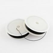 8m Black Nylon Elastic Stretch Beading Cord 0.8mm J01703
