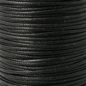 2mm Waxed Cotton Cord Thread Shamballa Macrame Jewellery - Black - 5 metres