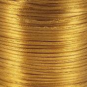 Rattail Satin Cord Thread 1.5mm For Kumihimo Macrame Shamballa - Camel - 5m