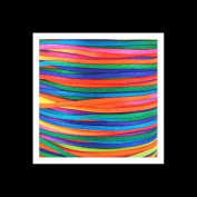 Rattail Satin Cord Thread 1.5mm For Kumihimo Macrame Shamballa - Rainbow - 5m