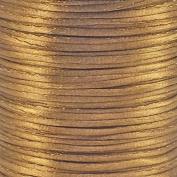 Rattail Satin Cord Thread 1.5mm For Kumihimo Macrame Shamballa - Light Brown - 5m