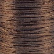 Rattail Satin Cord Thread 1.5mm For Kumihimo Macrame Shamballa - Espresso - 5m