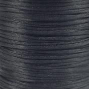 Rattail Satin Cord Thread 1.5mm For Kumihimo Macrame Shamballa - Black - 5 Metres
