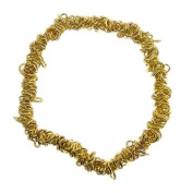 Elasticated Charm Bracelet For Jewellery Making - Gold Plated - 1pk