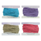 2mm Pastel Colours Waxed Cord Mix