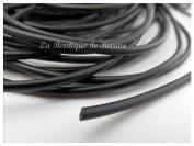 "Full Rubber Cord 3 Metres ""Buna Cord Black â . "" Creation Beads Diameter 3 mm"