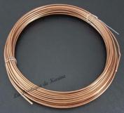 """6 Metres Aluminium Wire Metal Copper/Orange Diameter 1.5 mm â . """" Creation Pearl"""