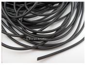 "Full Rubber Cord 3 Metres ""Buna Cord Diameter 2 mm Black â . "" Creation Pearl"