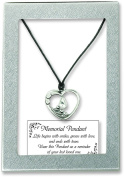 Cathedral Art TDP101 Heart Shape Pendant with Crystal Tear on 46cm Chain